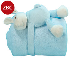 Cuddle with blanket lamb - blue
