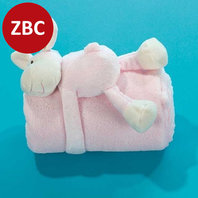Cuddle with blanket lamb - roze
