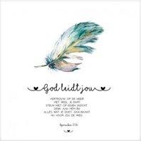 Cadeaubordje God leidt jou