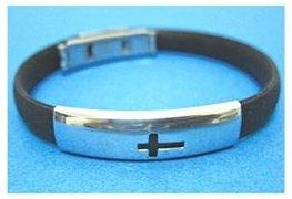 Cross - Rubber Fashion Bracelet