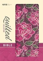 NIV Quilted Collection Bible Compact Burgundy Floral