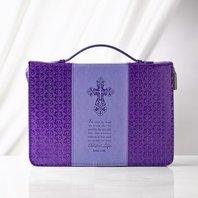 Bijbelhoes lila purple medium John 3:16