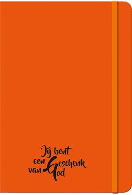 Schrijfboekje neon oranje