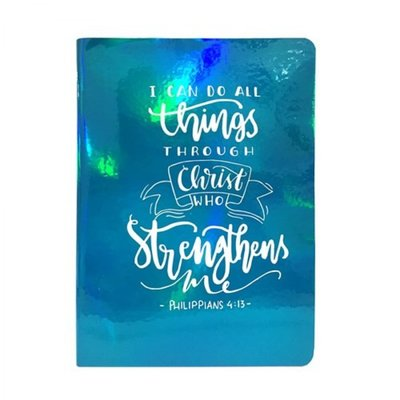 Pearl blue journal I can do all things