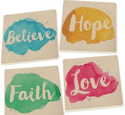 Coasters Faith Hope Love Believe