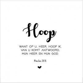 Cadeaubordje letters hoop