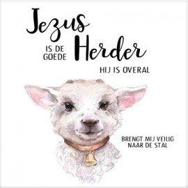 Cadeaubordje lammetje Jezus is de Goede