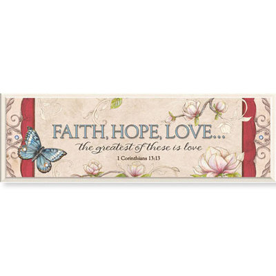 Faith Hope Love Wandbordje