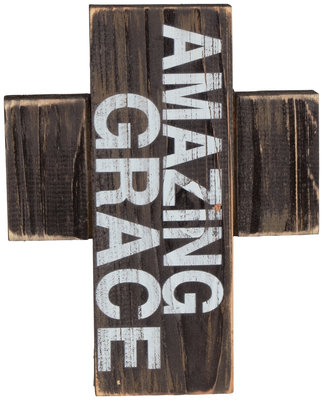 Amazing Grace Mini Houten Kruis