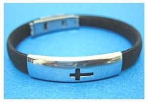 Cross - Rubber Fashion Bracelet