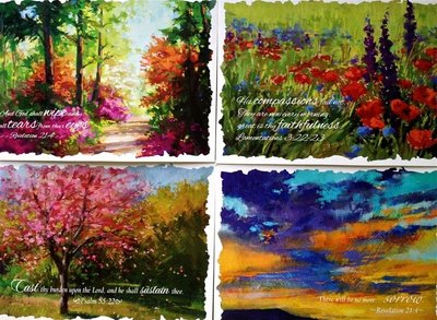 Blessed Morning - Sympathy Cards (set4)
