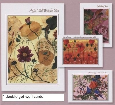Cards Get Well Peace En Grace (4 cards)