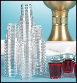 Wegwerp avondmaal cups 3,2cm set van 1000 stuks