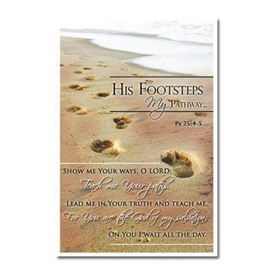 Gelamineerd Cadeaukaartje - His Footprints, My Pathway