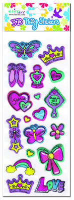 Princess Puffy Stickers (3)