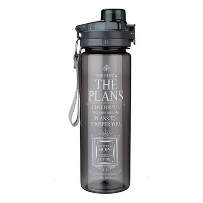 Plastic waterfles - For I know the plans - Black