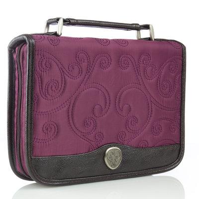 Classic Quilt Stitched Micro-Fiber - Purple - Bijbelhoes Medium