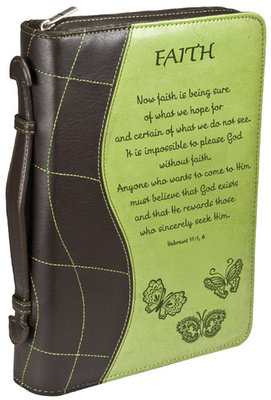 Bijbelhoes Large Green FAITH Now faith is being sure