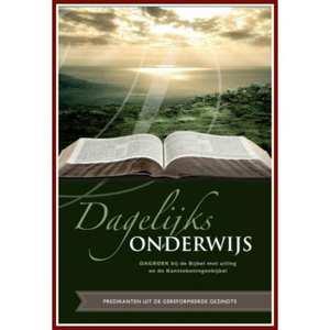 Dagelijks onderwijs dagboek bij de Bijbel met uitleg