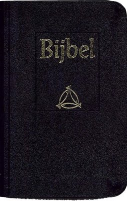 Hand/schoolbijbel soepele zwarte band NBG