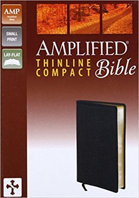 Amplified Thinline Compact Bible Black