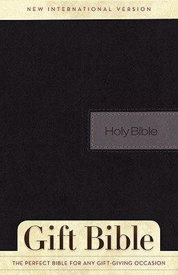 NIV Gift Bible Black Grey Duotone