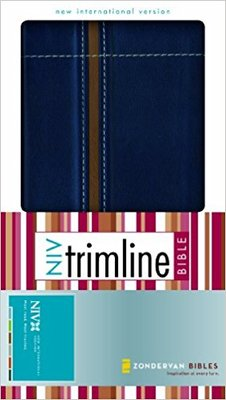 NIV Trimline Bible Blue Tan
