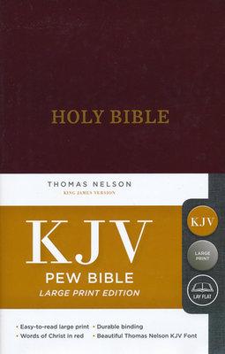 KJV Pew Bible Large Print Burgundy Hardcover