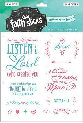 Stickers Faith Sticks 'Isaiah 43:1'