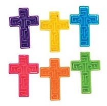Cross shaped maze - kruis spelletje - set van 6