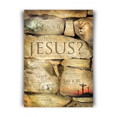 Poster A3 formaat Who is Jesus?
