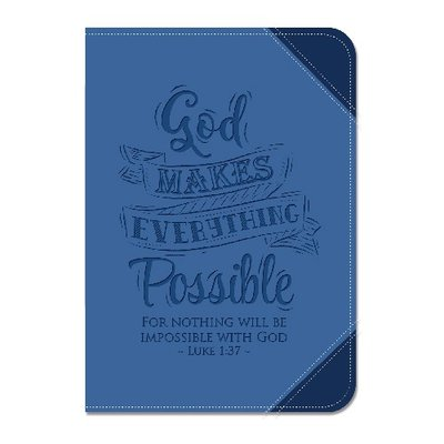 Journal luxleather God makes everything possible