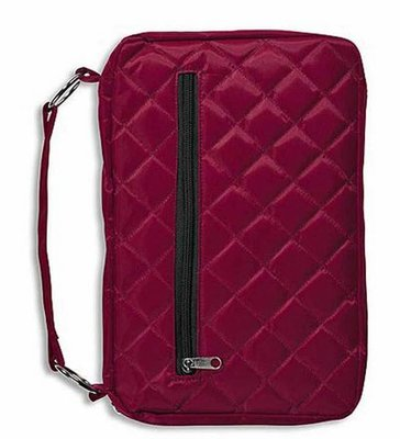 Bijbelhoes quilted burgundy Large