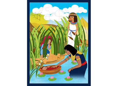 Baby Moses in the Nile Puzzle 36 pieces