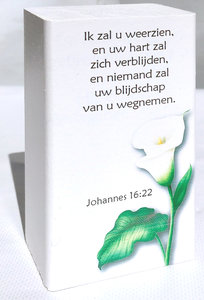 Bemoedigingsblok - Ik zal u weerzien - Johannes 16:22