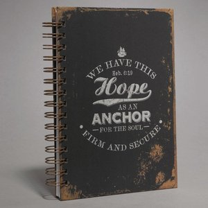 We Have This Hope As An Anchor - Large Wirobound Journal