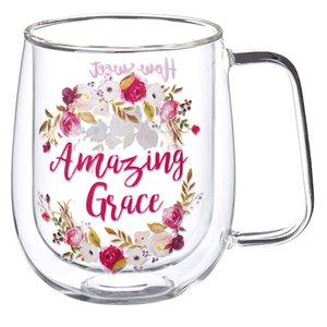 Mug Glass Amazing Grace