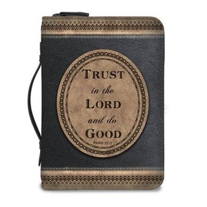 Bijbelhoes medium bruin/zwart trust in the Lord