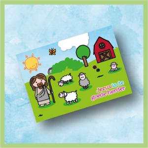 Jezus is de Goede Herder - Kinderkaart