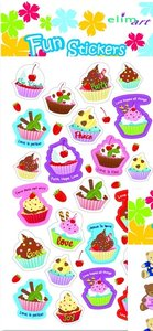 Cup Cakes Fun Stickers (set4)