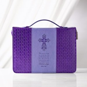 Bijbelhoes lila purple medium John 3:16