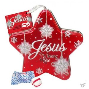 Jesus Our Shining Hope - Filled With Soft Peppermints Jesus Star Tin