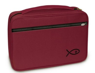 Bijbelhoes fish burgundy NBV