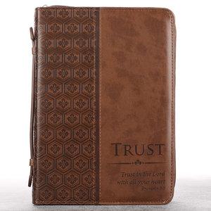 Bijbelhoes Medium Trust in the Lord bruin