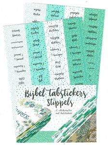 Bijbeltab stickers stippels